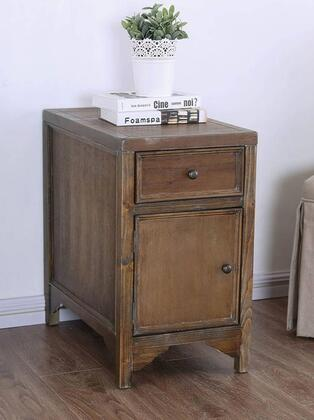 Furniture of America Meadow CM4327AT End Table Brown, Main Image