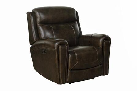 Malibu Collection 9PH3641371386 41″ Power Recliner with Power Head Rests and Leather Match Upholstery in Tri-Tone
