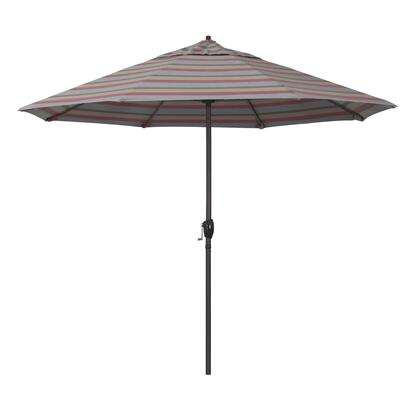 Casa Collection ATA908117-58038 9′ Patio Umbrella With Bronze Aluminum Pole Aluminum Ribs Auto Tilt Crank Lift With Sunbrella 1A Gateway Blush