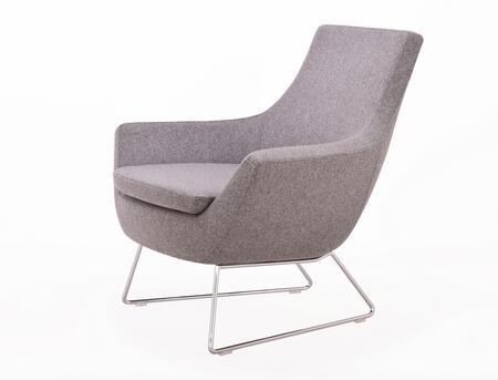 Sierra 250-CD-RBC-CUZ28 Lounge Chair in Silver