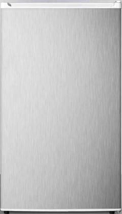 Summit  FF412ESSSADA Compact Refrigerator Stainless Steel, Main Image
