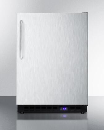 Summit  SCFF53BXCSSTB Compact Freezer Stainless Steel, 1