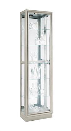 Pulaski  21455 Curio Cabinet Silver, Main Image
