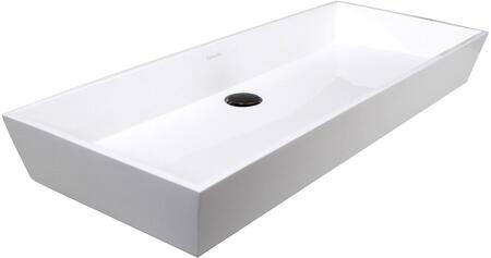 NS-GSTR24 Glacierstone Collection 24″ Sink with Pre-Drilled Faucet Hole and Single Bowl  in