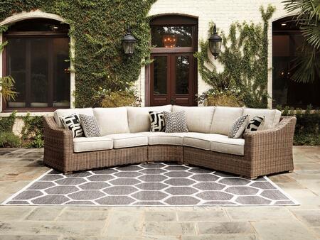 Signature Design by Ashley Beachcroft P791854851 Outdoor Patio Set Beige, Main Image