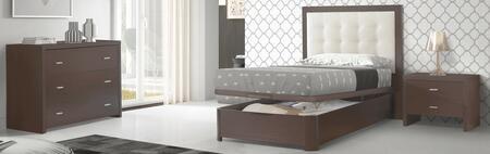 ESF Regina REGINABEDTSNSDR Bedroom Set Brown, REGINABEDTS-NSDR