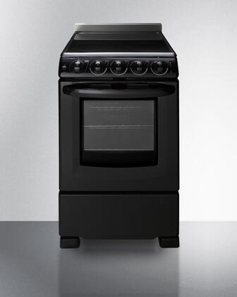 Summit  REX2051BRT Freestanding Electric Range Black, REX2051BRT Electric Range