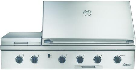 Dacor Discovery OBS52LP Liquid Propane Grill Stainless Steel, Front View