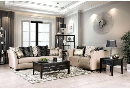 Furniture of America Hampden SM2273SFSET Living Room Set Beige, Living Room Set