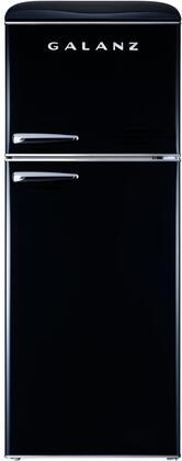 Galanz  GLR10TBKEFR Top Freezer Refrigerator Black, GLR10TBKEFR Retro Top Freezer Refrigerator
