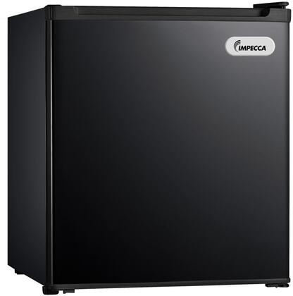 """RC-1176K 18"""" Energy Star Rated Compact Refrigerator with 1.7 cu. ft. Total Capacity 1 Wire Shelf Half Width Chiller Compartment and Reversible Door"""