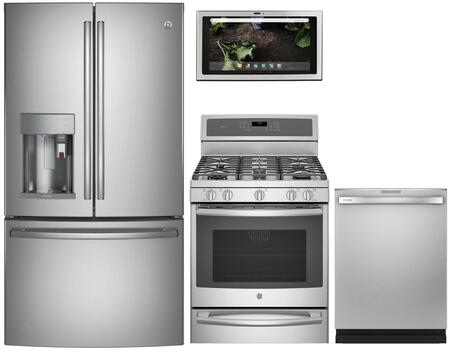 GE Profile 1077355 Kitchen Appliance Package & Bundle Stainless Steel, main image