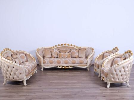 European Furniture Valentine 45010SLC Living Room Set Beige, Main Image