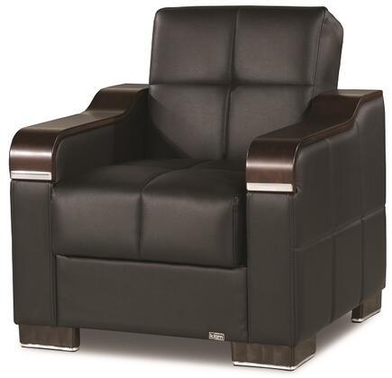 Casamode Uptown UPTOWNARMCHAIRBLACKPU11448 Living Room Chair Black, Main Image
