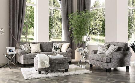 Furniture of America Porth SM8012SFSET Living Room Set Brown, Living Room Set