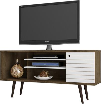 Manhattan Comfort 200AMC96 52 in. and Up TV Stand White, 200AMC96 A