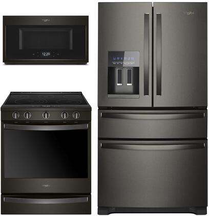 Whirlpool  1040003 Kitchen Appliance Package Black Stainless Steel, main image
