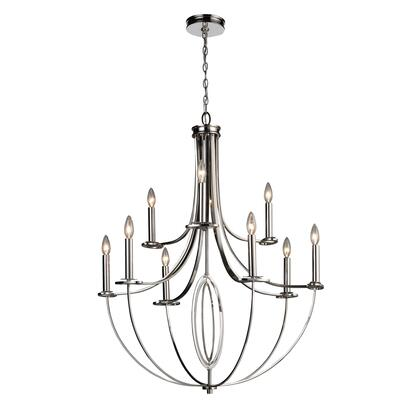 10159/6+3 Dione 6+3-Light Chandelier in Polished