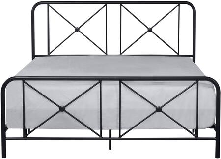 Williamsburg Collection 2585500 Metal Queen Bed with Decorative Double X Design in