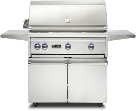 36″ Freestanding Liquid Propane Grill and Cart with ProSear Burner and Rotisserie  in Stainless