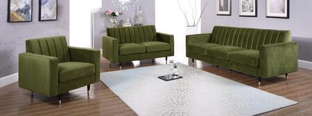 Meridian Lola 619OliveSET Living Room Set Green, Main Image