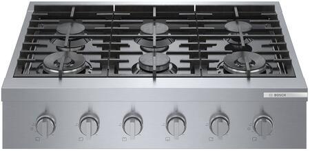 Bosch 800 Series RGM8658UC Gas Cooktop Stainless Steel, RGM8658UC 800 Series Gas Rangetop