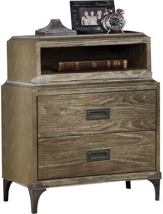 Acme Furniture Athouman 23923 Nightstand Brown, Angled View