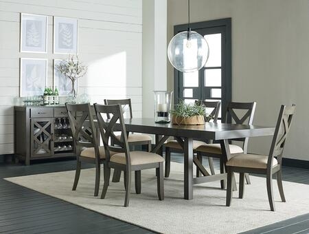 Omaha Collection 16681-6SC-SB 8-Piece Dining Room Set with Rectangular Dining Table 6 Side Chairs and Sideboard in