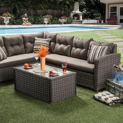 Furniture of America Moura CMOS1816 Outdoor Patio Set, cm os1816 xx1 1