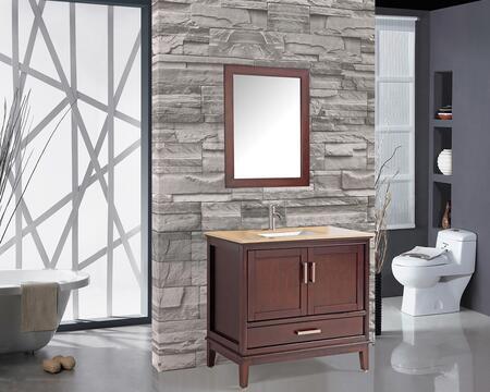 Sierra Collection MTD-6130T 30″ Single Sink Bathroom Vanity Set in