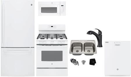 GE  1289743 Kitchen Appliance Package White, Main image