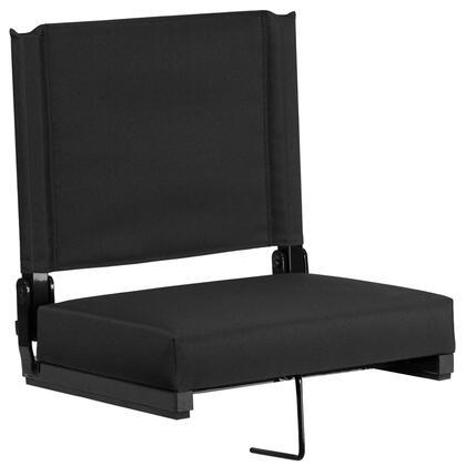 Flash Furniture Grandstand XUSTABKGG Folding Chair Black, XUSTABKGG side