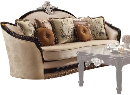 Acme Furniture Ernestine 52110 Stationary Sofa Beige, 1