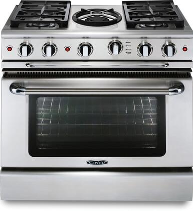 Capital Precision GSCR364WL Freestanding Gas Range Stainless Steel, Main Image