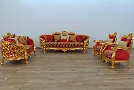 European Furniture Bellagio II 30013SLC Living Room Set Red, Main Image