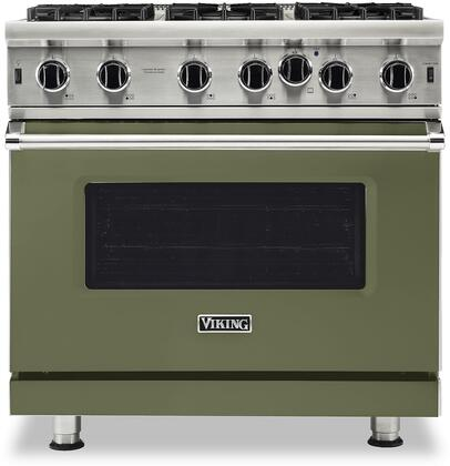 Viking 5 Series VGIC53626BCY Freestanding Gas Range Green, VGIC53626BCY Gas Range