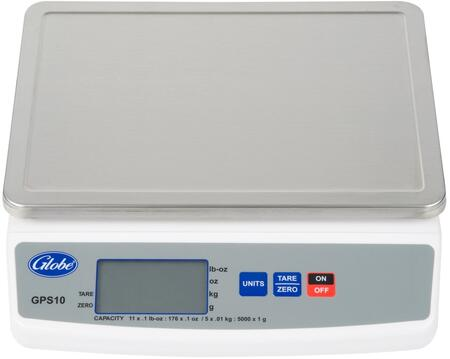 Globe GPS104 Small Commercial Appliance White, Scale Front View