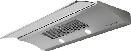 """ZGE-E30AS 30"""" Essentials Europa Series Genova Under Cabinet Range Hood with 500 CFM Internal Blower Smoke Gray Sliing Glass Electronic Touch"""