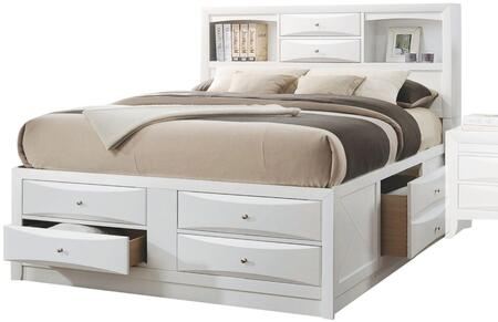 Acme Furniture Ireland 21700Q Bed White, Angled View