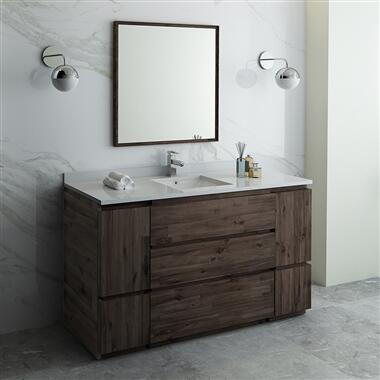 Formosa Collection FVN31-123612ACA-FC 60″ Floor Standing Single Sink Modern Bathroom Vanity with