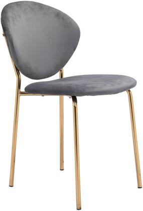 101521 Clyde Chair Gray  (Set of