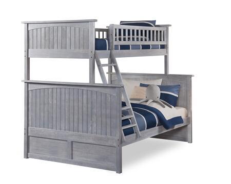 Atlantic Furniture Nantucket AB59208 Bed Gray, AB59208 SILO 30