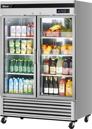 TSR-49GSD-N 55″ Super Deluxe Series Glass Door Bottom Mount Reach-In Refrigerator with 44.14 cu. ft. Capacity  Self-Cleaning Condenser and