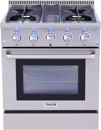 """Thor kitchen HRD3088U 30"""" Freestanding Professional Style Dual Fuel Range with 4.2 cu. ft. Oven, 4 Burners, Convection Fan, Stainless Steel"""