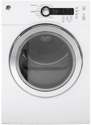 GE DCVH480EKWW Electric Dryer White, Main View