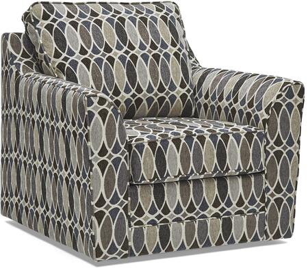 2013-01S DECO SHAPES SHALE 41″ Swivel Chair with Loose Back Cushion in Deco Shapes