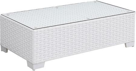 Furniture of America Somani CMOS2128WHK Outdoor Patio Table White, cm os2128wh k