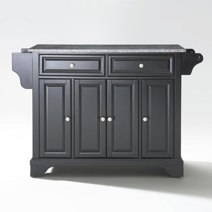 Lafayette Collection KF30003BBK Granite Top Island/Cart in Black