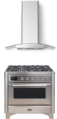 Ilve Majestic II 1150529 Kitchen Appliance Package Stainless Steel, Main Image