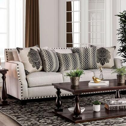 Furniture of America Cornelia SM3072SF Stationary Sofa Beige, main image